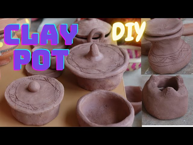 Cooking Pot making at home with clay / Easy way to make clay pot without wheel Part 1 #LearnWithPari