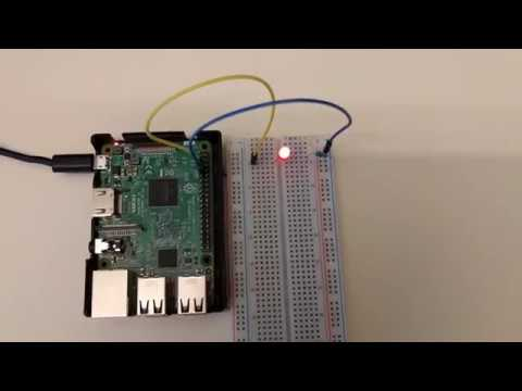 Node js Raspberry Pi Blinking LED