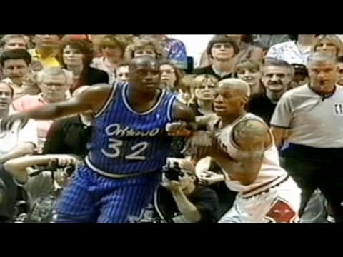 Dennis Rodman locks down Shaq - 1996 ECF Game 1