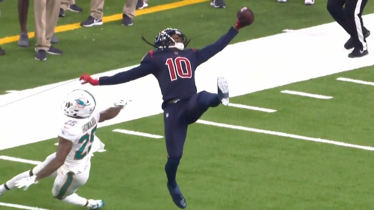 DeAndre Hopkins UNREAL One-Handed Catch That Didn't Count ...