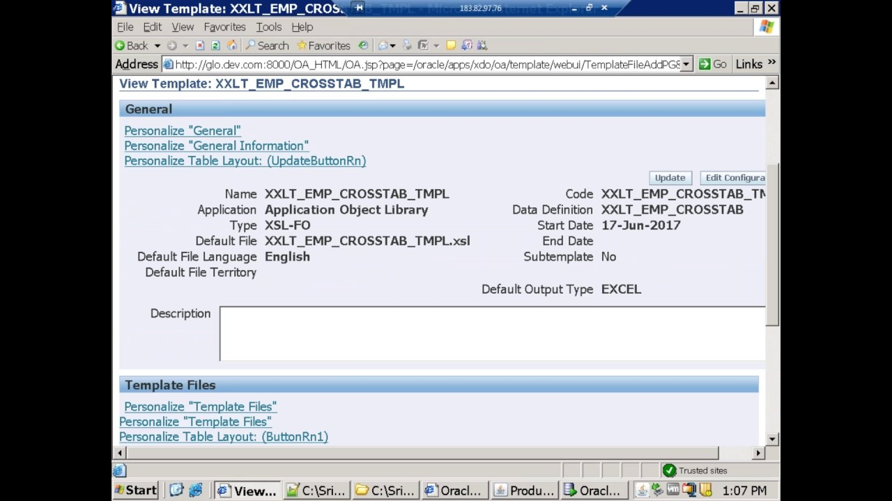Oracle XML Publisher - Cross Tab - Pivot Table Report