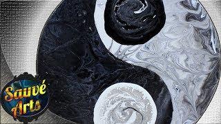 Fluid Acrylic Painting - Hard Edge Technique: Yin Yang!