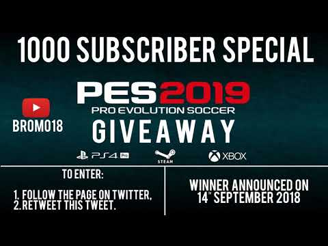 PES 2019 Giveaway! (1000 Subscriber Special) (PS4, PC & XBOX ONE)