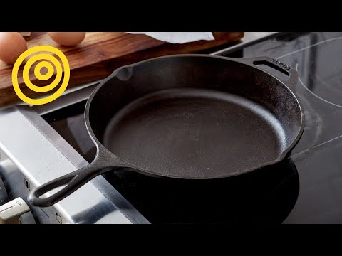 how to clean iron skillet youtube