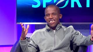 Thomas Mlambo chats to the former Kaizer Chiefs player:Junior Khanye