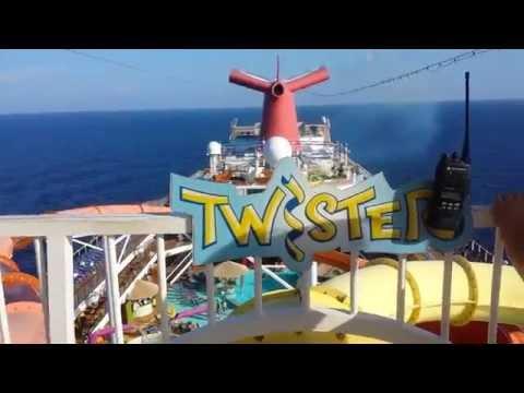 Twister Water Slide Carnival Magic Cruise Ship POV