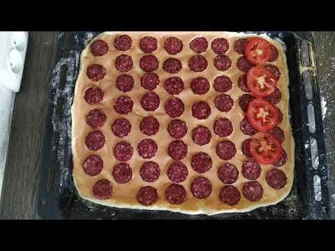 Очень вкусная домашняя пицца. Простой пошаговый рецепт.