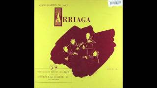 Guilet string quartet Juan Crisóstomo Arriaga string quartet no 2 in A major rec 1950