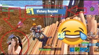 Crazy Hot Asian Girl Obtient sa première victoire Royale! Fortnite Twitch Faits saillants - Moments drôles