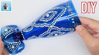 Handmade Vase From Plastic Bottle Art and Craft Ideas