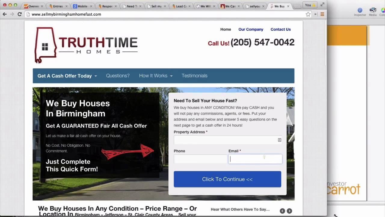 Mobile Responsive Site Test - Real Estate Investor Websites
