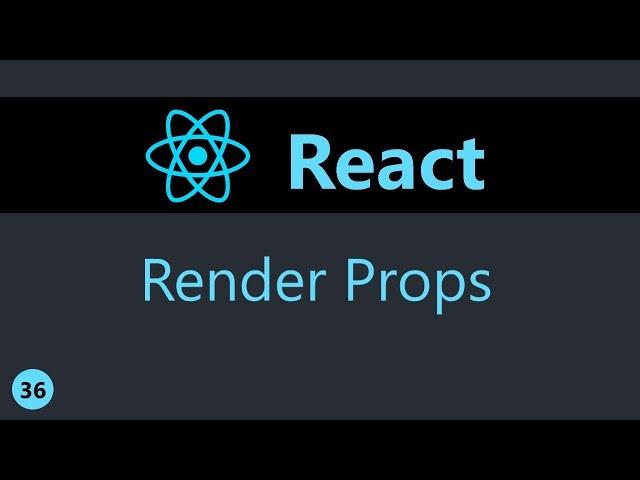 ReactJS Tutorial - 36 - Render Props (Part 1)
