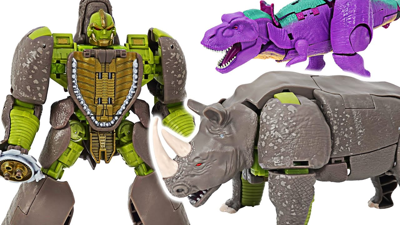 Transformers Kingdom Rhinox! Transform into a rhino!   DuDuPopTOY