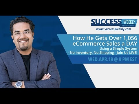 How He Gets Over 1,056 eCommerce Sales a DAY Using a Simple System!