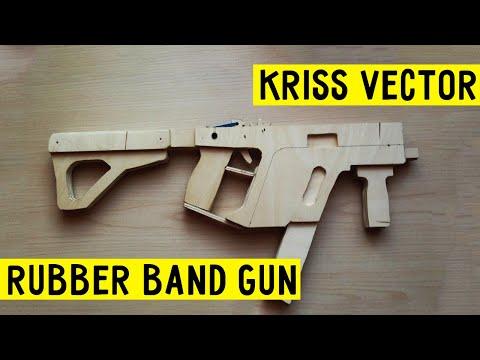 How to make MEGA EASY!!!  Super Kriss Vector rubber band gun Wood Free template tutorial