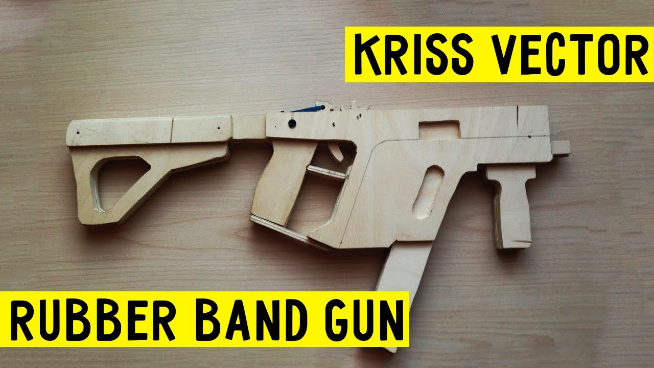 how to make mega easy super kriss vector rubber band gun wood