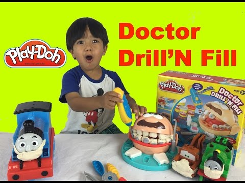 Ryan plays with Play Doh Playset!