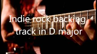 Indie Rock Guitar Backing track in D major