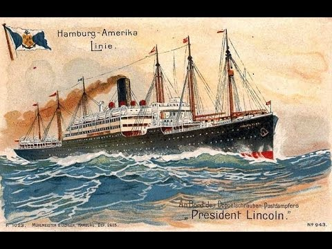 s.s. President Lincoln - Hamburg America Line - The Entertainer (Stringversion)
