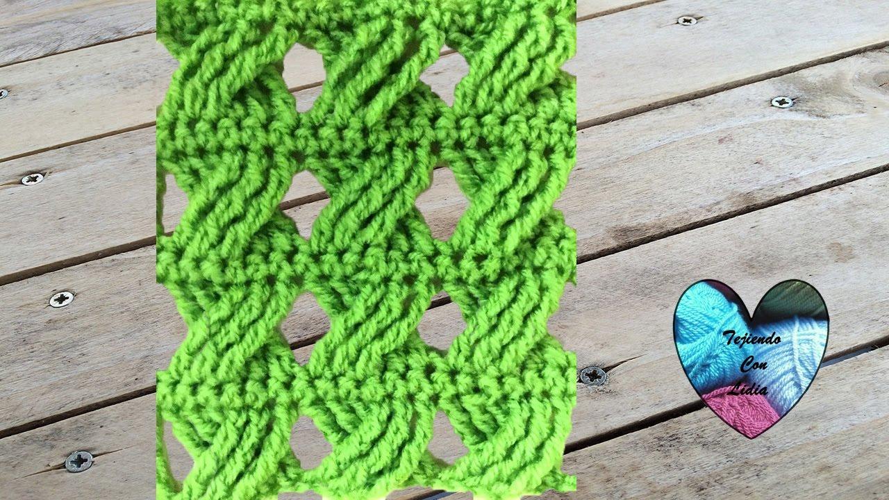 Hermoso punto cruzado tejido a crochet facil - YouTube