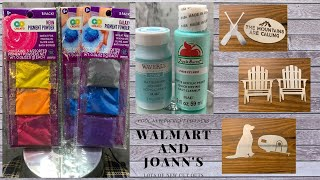 Awesome Walmart and Joann's Fabric Haul!! DIYs and Crafts Galore!! FUN NEW ITEMS!