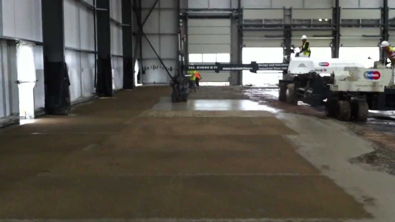 Technic Floors Laser Screed Pour For Distribution Centre