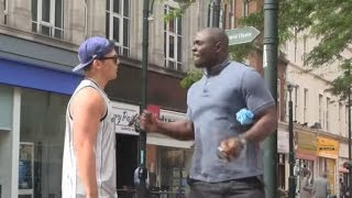 GUY GETS PUNCHED IN THE FACE - BALLS PRANK GONE WRONG!!