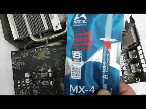 RX470. После года майнинга карта начало греться пришлось заменить термопасту посмотрите что там внут