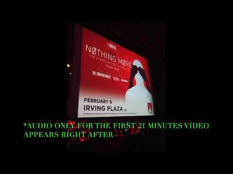 NOTHING MORE LIVE AT IRVING PLAZA NYC FEB 2018