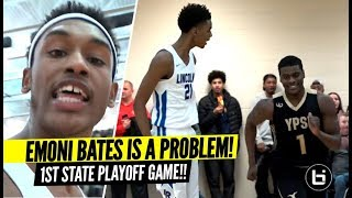 INTENSE RIVALRY IN PLAYOFFS!! Emoni Bates GOES AT Defenders in 1st Career Playoff Game!