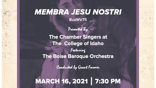 """Buxtehude's """"Membra Jesu Nostri"""" performed by The Chamber Singers and Boise Baroque Orchestra"""