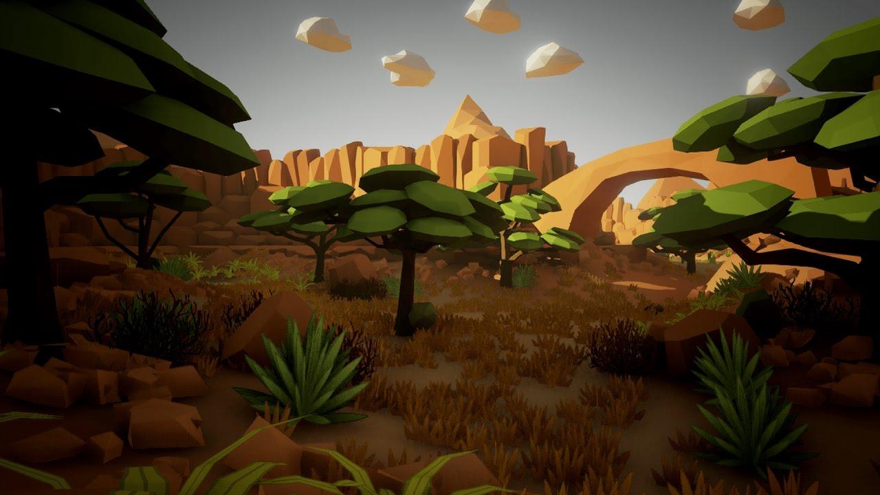 Desert 3d Wallpaper Ue4 Olbert S Low Poly Desert Youtube