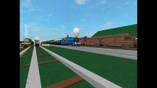 ROBLOX Trump Train Scared Henry Gordon And Spencer at the Island of Sodor at Elsbridge Station.