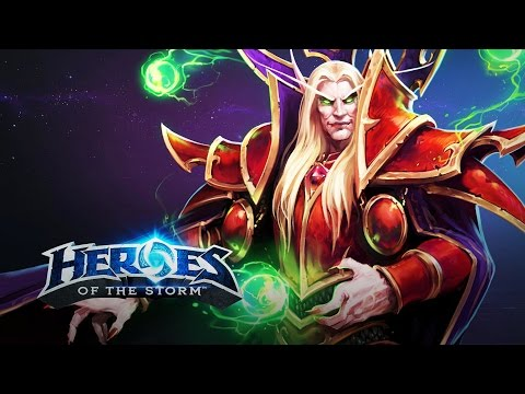 ♥ Heroes of the Storm (A-Z Gameplay) Kael'thas (HoTs Quick Match)