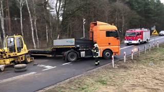 Wypadek na przejeździe kolejowym, dw302 - trasa Zbąszyń-Nowy Tomyśl 2020-01-07