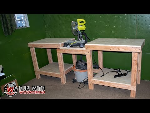 How to build a simple and strong miter saw station without a fence