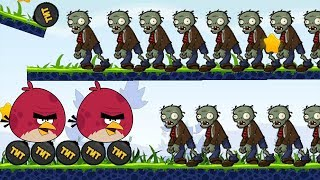 Angry Birds Fry Zombie - GAMEPLAY BURN ZOMBIE BY FORCING TNT!
