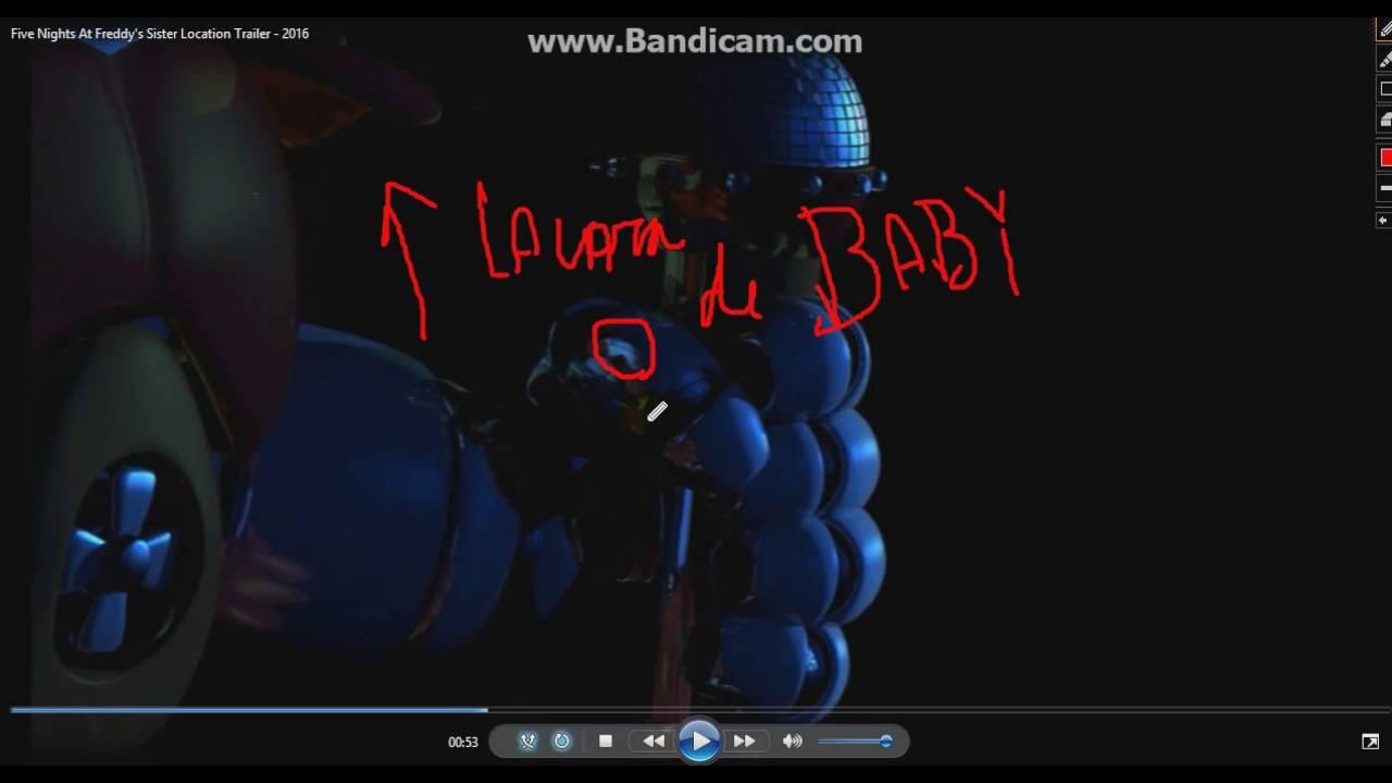 la cara de baby y la cola de funtime foxy - YouTube