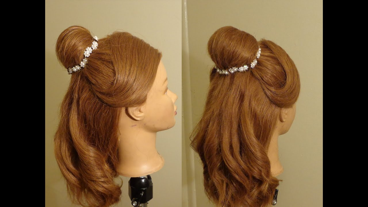 Beauty And Beast Belles Hairstyle YouTube