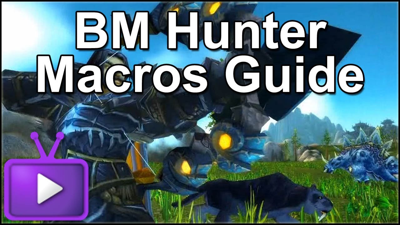 wow how to make macros hunter