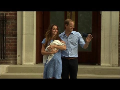 Royal baby boy leaves hospital: William and Kate's first public appearance with new son  BBC