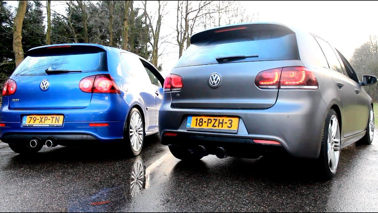 vw golf mk5 r32 vs golf mk6 r20 with milltek exhaust. Black Bedroom Furniture Sets. Home Design Ideas