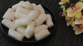 Настоящая корейская кухня: КАРЕТОК 가래떡 РИСОВЫЕ ПАЛОЧКИ