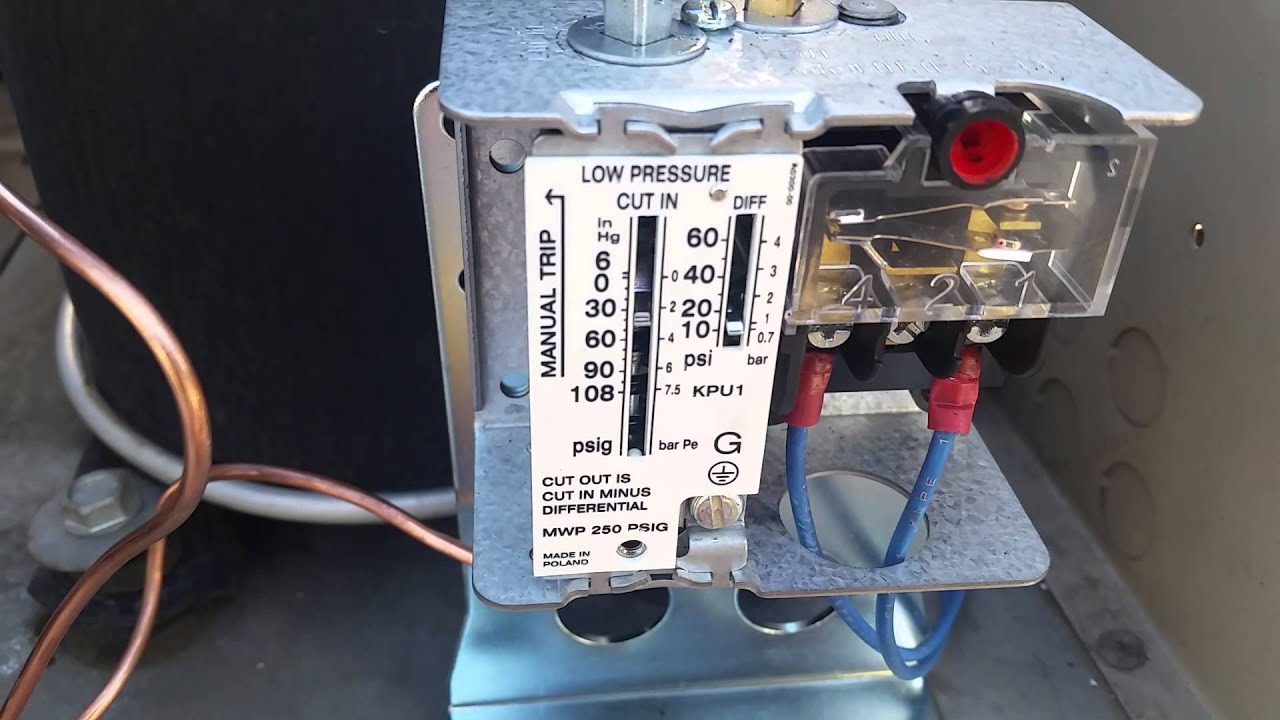 Ranco dual pressure switch wiring diagram