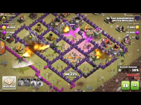 Clash Of Clans War Attacks ( Arrival To Earth Sound Track )