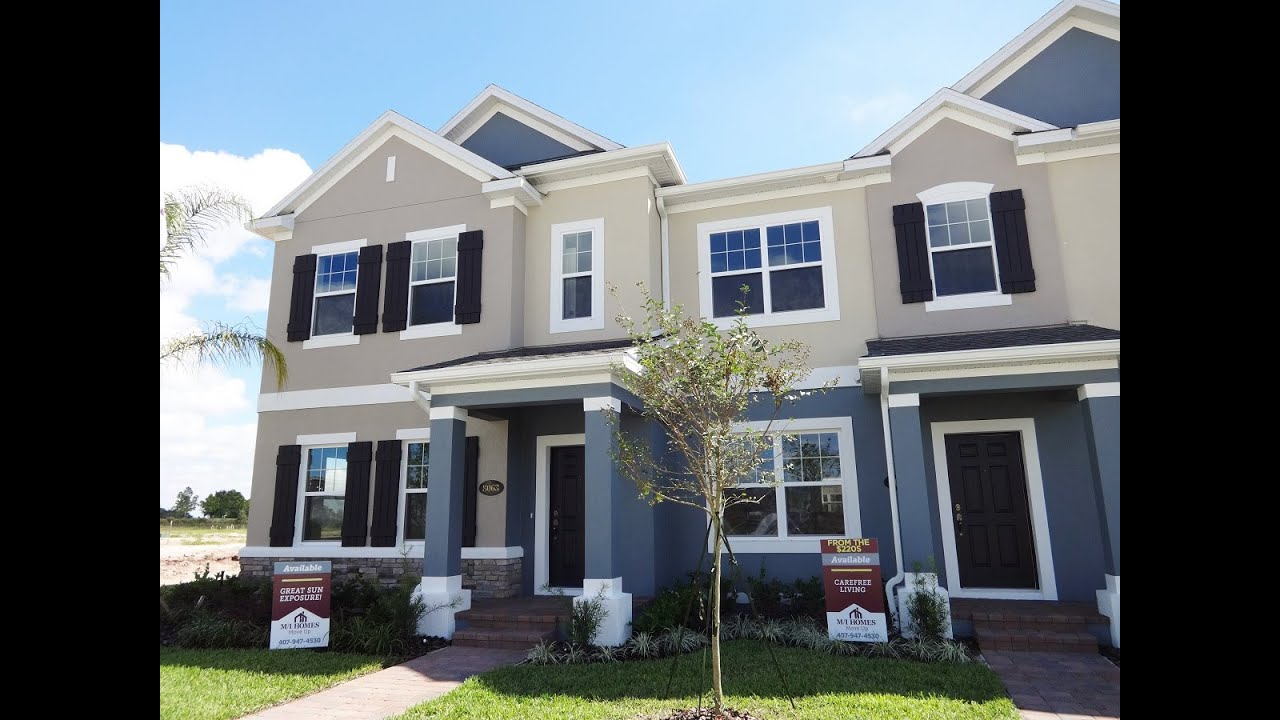 summerlake groves by mi homes windham townhome model winter garden new homes youtube - New Homes Winter Garden