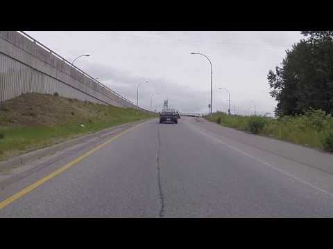 Driving to New Westminster from Vancouver British Columbia Canada - South Burnaby Route - Highway