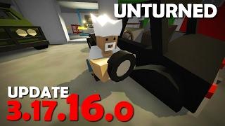 Unturned - UPDATE 3.17.16.0 | AGORA OS PNEUS PODEM SER DESTRUÍDOS E BATERIA PARA VEÍCULOS