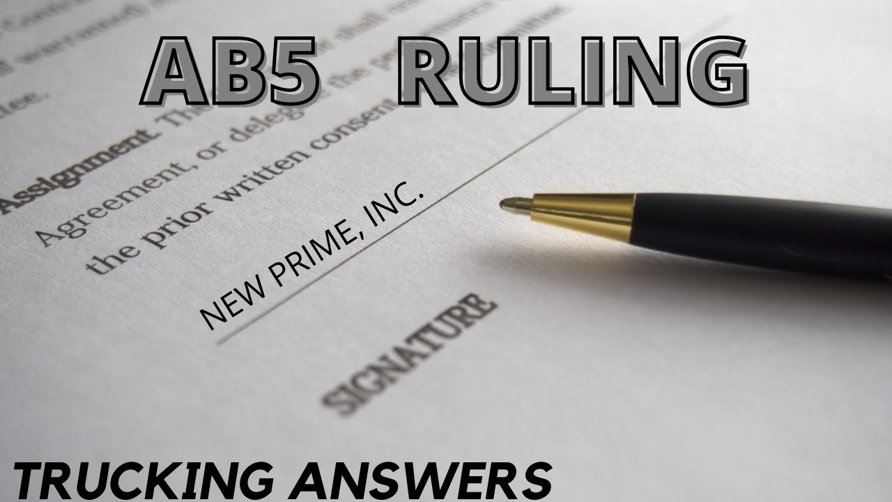 Download AB5 Free to be Enforced | Trucking Answers