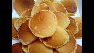 Печёные оладьи панкейки с кукурузной мукой на кефире.